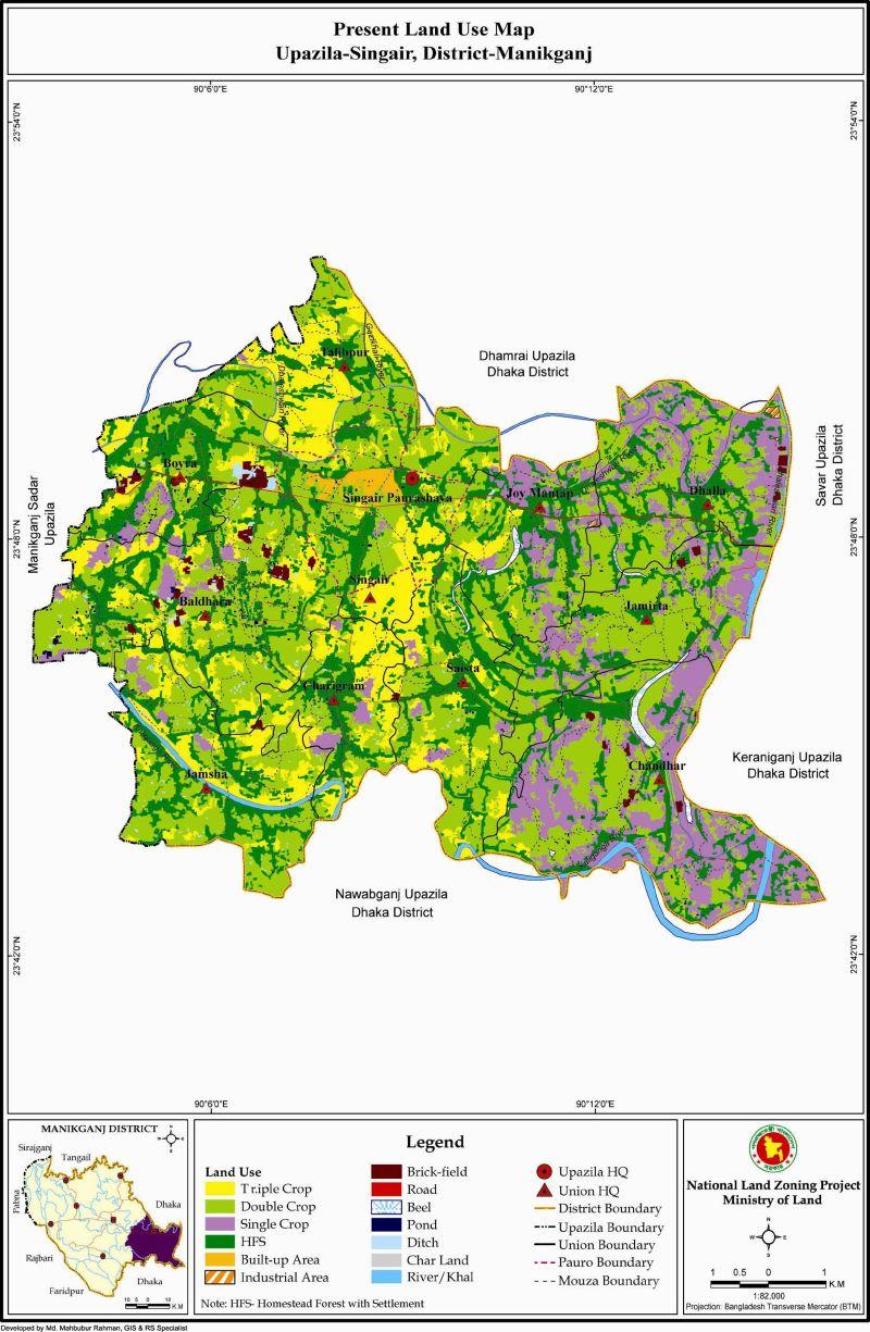 Singair Upazila Mouza Map Manikganj District Bangladesh