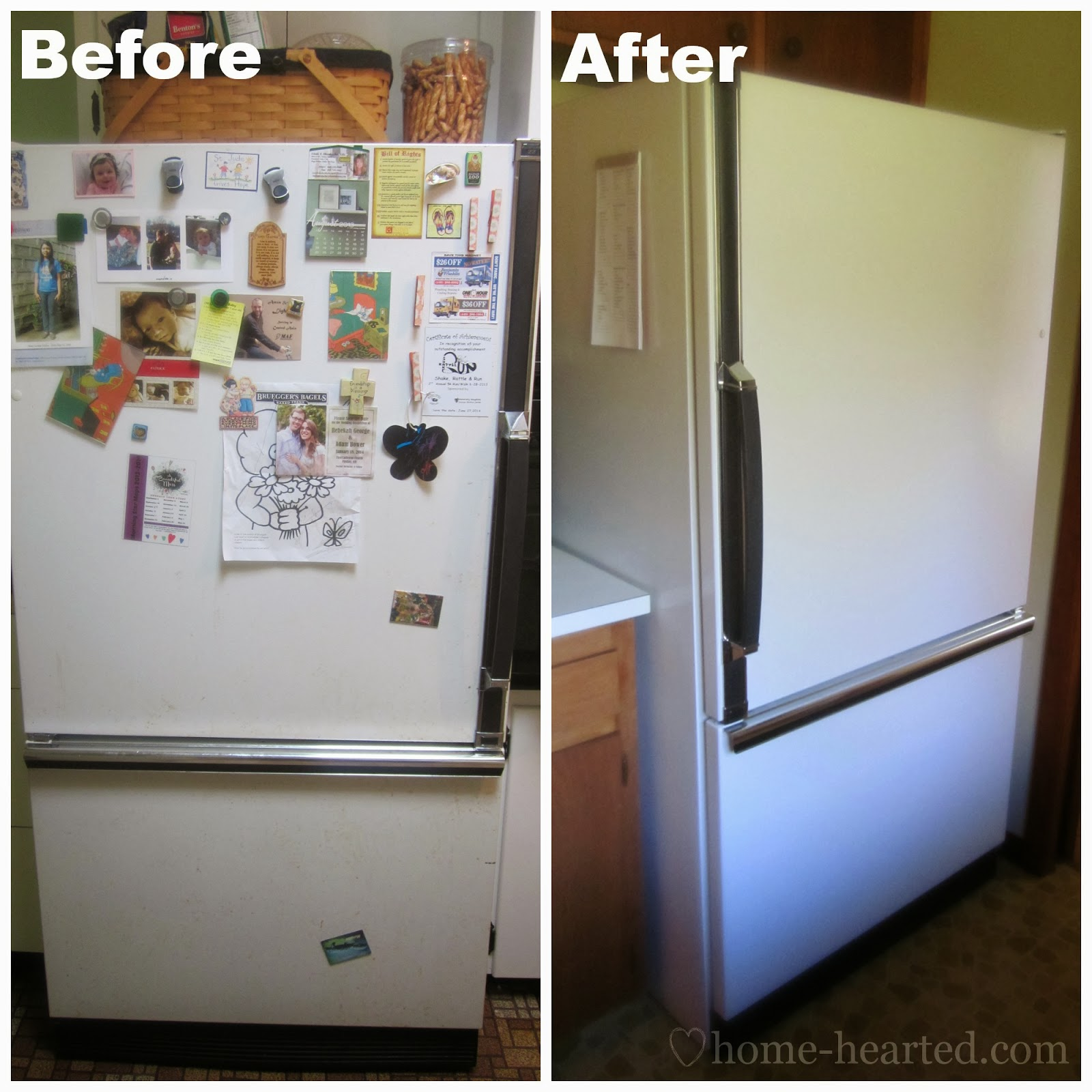 How To Paint A Refrigerator Easier Than You Think