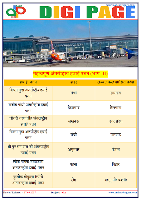 DP | AIRPORTS | 17 - MAR - 17 | IMPORTANT FOR SBI PO