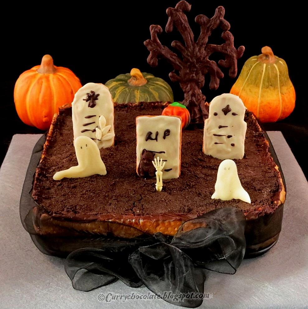 Tarta cementerio para Halloween