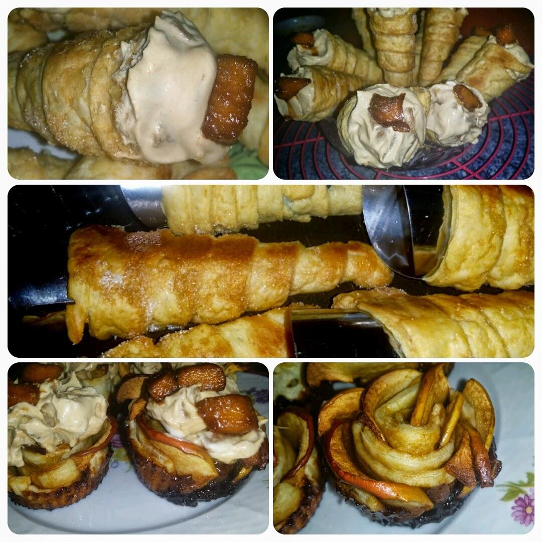 Le blog de cata cornets farcis et roses aux pommes - Feuillete aux pommes caramelisees ...