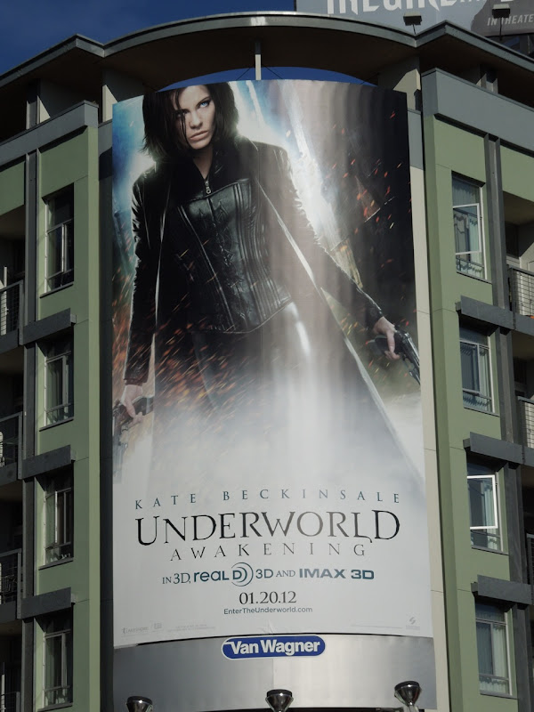 Underworld Awakening movie billboard
