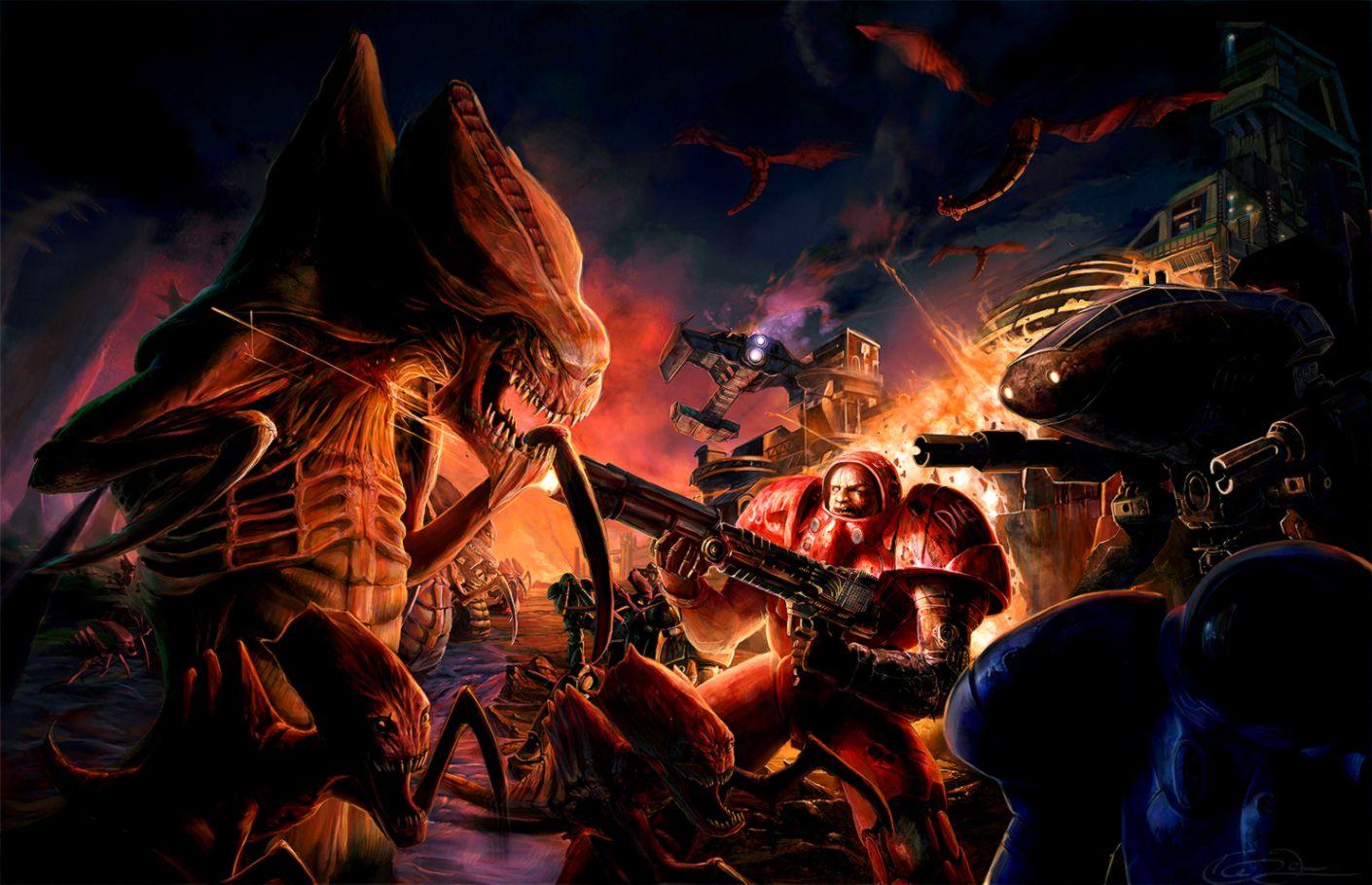 Starcraft Zerg Logo Artwork Video Games Wallpaper | List Wallpapers