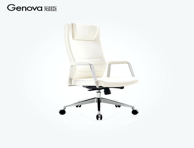 best buy white leather ergonomic office chair for sale
