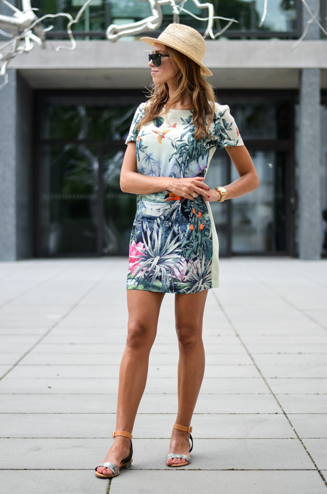 kristjaana mere jungle print t shirt mini dress