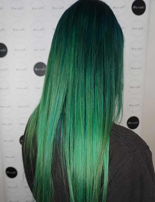 Mermaid Hair Color Idea - Sea Green Sombre