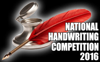 National Handwriting Competition 2016