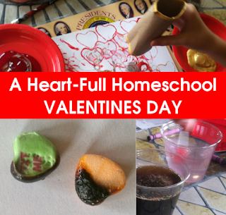 Fun Valentines activities in art, math, science and writing