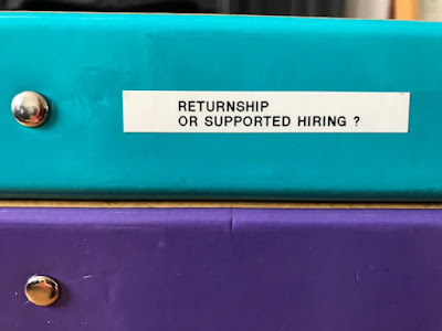 What is a returnship? What is a supported hire?