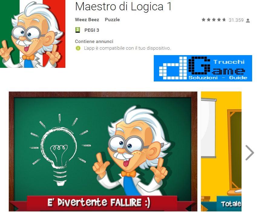 Soluzioni Maestro di Logica 1