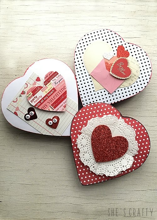 How to makeover a Valentine Gift Chocolate Box with Free Cupid Coupons