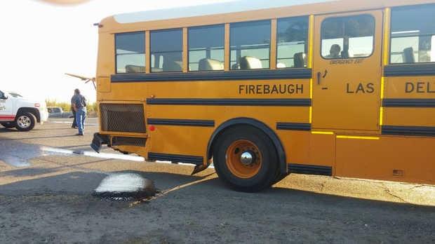 fresno county school bus pickup truck accident firebaugh avenue 7 1/2