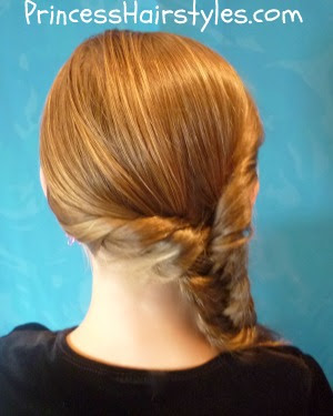fishtail braid twist hairstyle