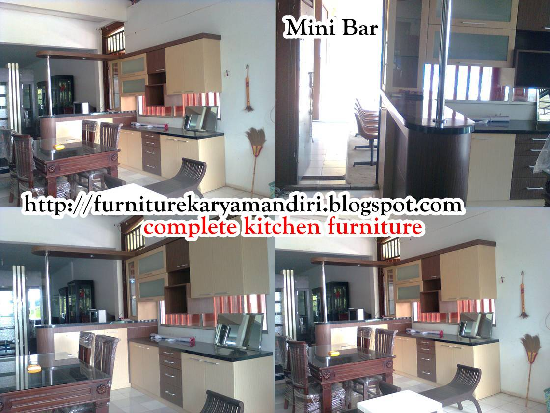 Mini bar kitchen set