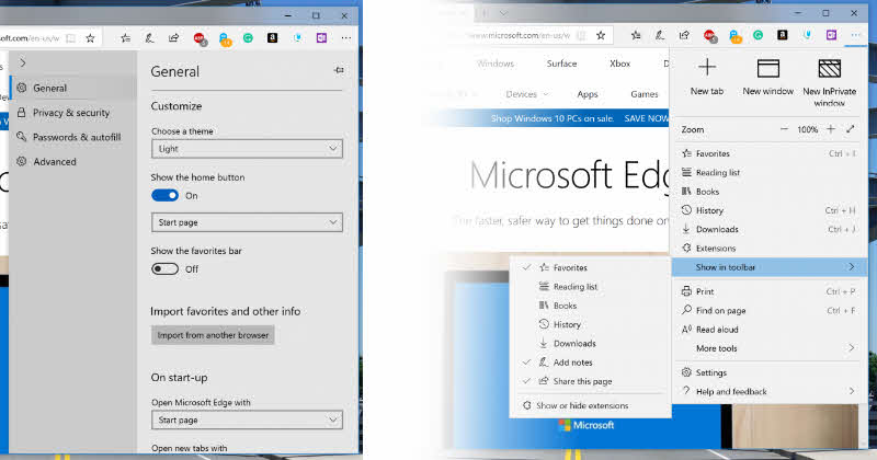 Microsoft Edge improvements in Windows 10 (Redstone 5) Insider Preview Build 17704