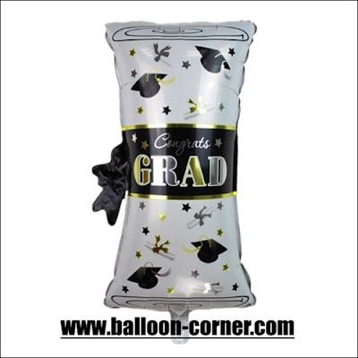 Balon Foil Congrats Grad Diploma