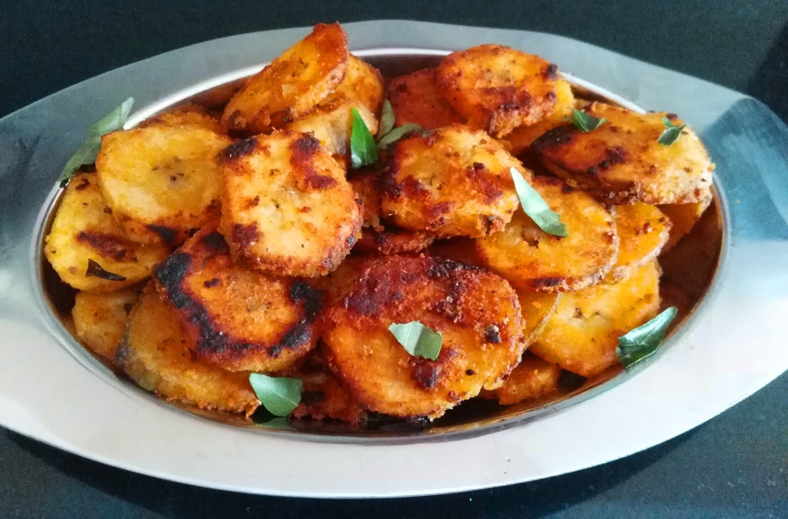 Vazhaikkai Fry (Raw Banana Spicy Fry)