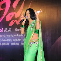 Udaya bhanu in light green saree