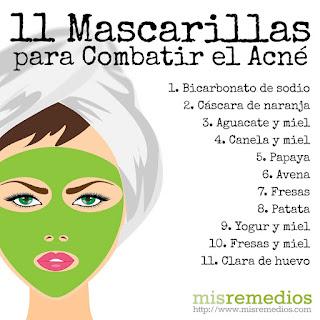 Tips para eliminar el acné  y manchas de la piel