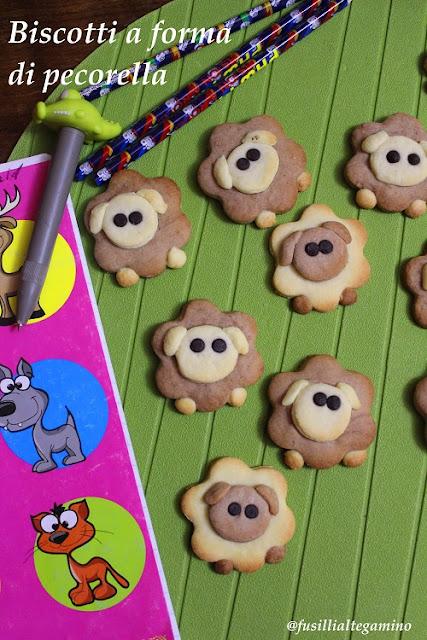 biscotti a forma di animaletto: le pecorelle