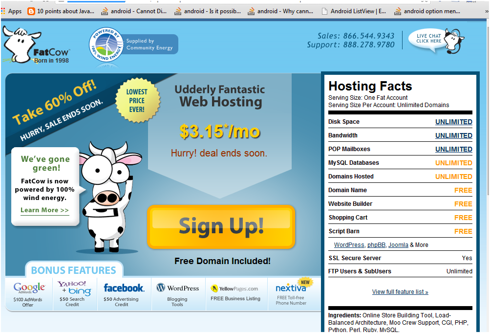 Best wordpress hosting sites in 2014 - FatCow