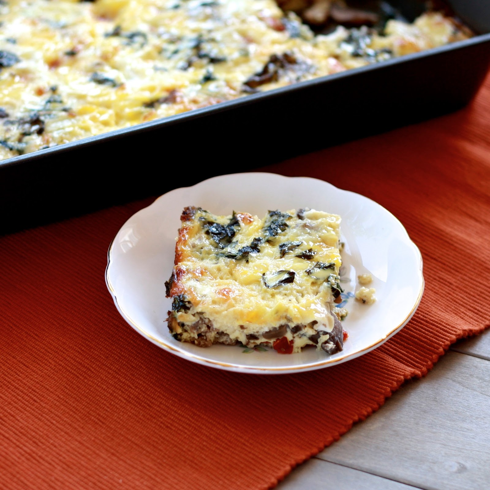 Do Ahead Egg And Sausage Bake: Sausage And Egg Casserole With Mushrooms, Sun-dried