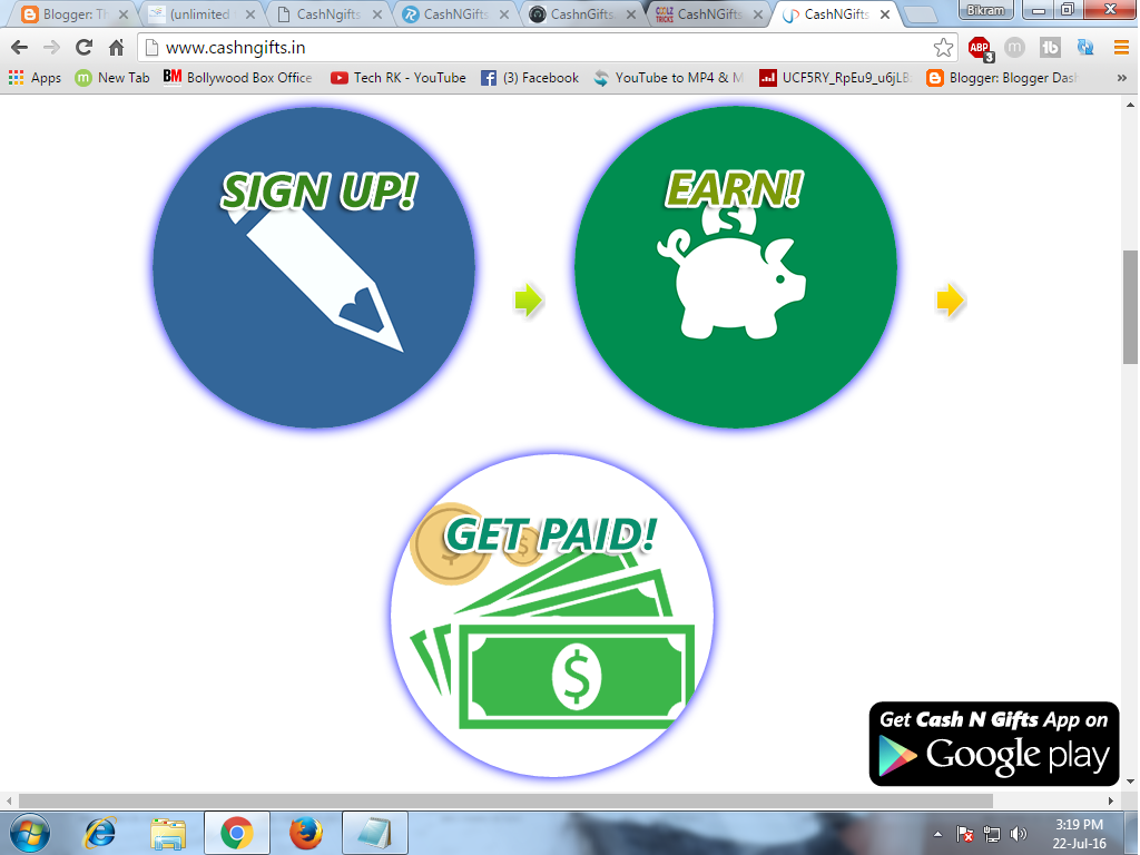 CashNGifts Trick-EARN UNLIMITED FREE RECHARGE,VOUCHER AND