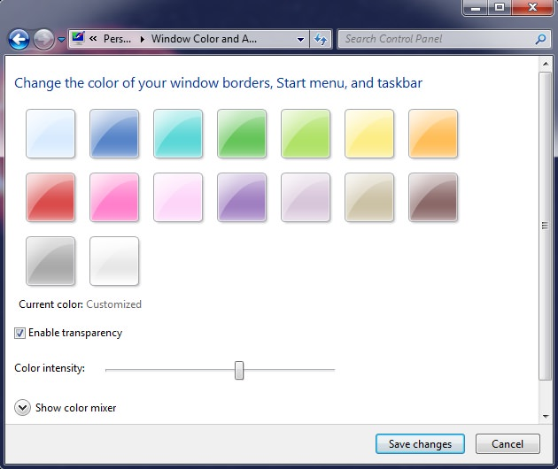 Change Window Color