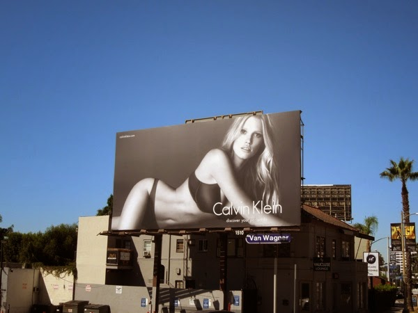 Calvin Klein Lara Stone perfect fit billboard