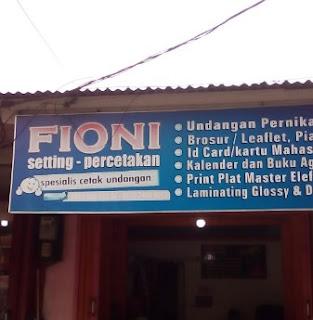 LOKER Karyawan/ Karyawati FIONI SETTING PADANG JANUARI 2019