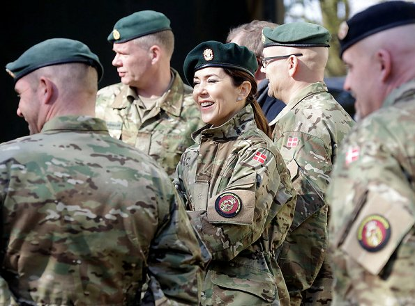 Crown Princess Mary visited the Danish Home Guard (HJV) Control Center in near Vordingborg