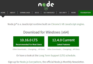 website resmi node js