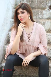Telugu Actress Aditi Singh Stills in Leather Pants at Nenu Kidnap Iyanu Movie Press Meet  0103.JPG