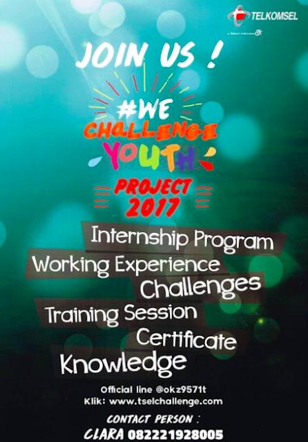 Lowongan Kerja Magang Telkomsel We Challenge Youth Project Brach Yogyakarta Januari 2017