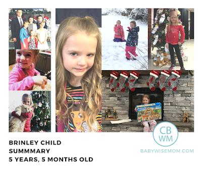 Brinley Child Summary {5 Years 5 Months Old}