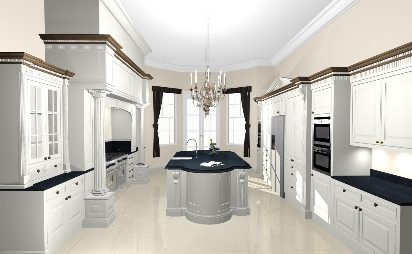 Dave Franklin: Revised Kitchen Design For Sussex Manor House