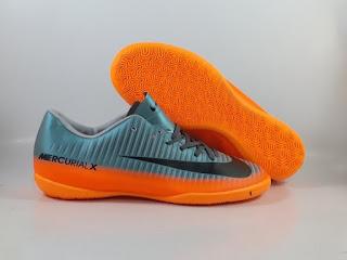 Nike Mercurial Victory IC - CR7 Chapter 4 Metallic Orange  Sepatu Futsal Replika Import Premium Quality  SIZE: 39-45  Harga : Rp.270.000