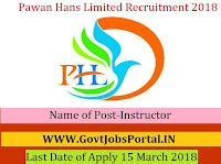 Pawan Hans Limited Recruitment 2018 – Instructor
