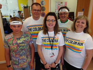 Burton YMCA Color Run team