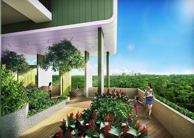 Vườn cây xanh tại FLC Green Home