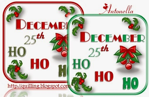 Free December 25th Printable with Gift Tags from Antonella @www.quilling.blogspot.com