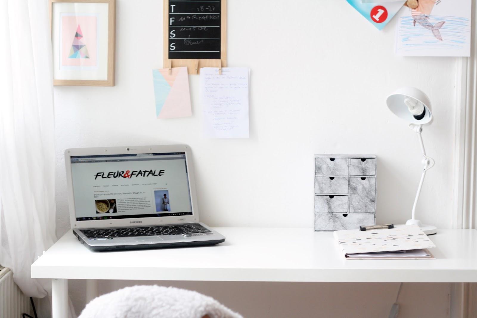 interior schreibtisch pimpen vom langweiligen ikea. Black Bedroom Furniture Sets. Home Design Ideas