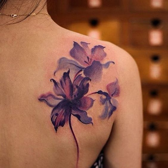 20 Stunning Watercolor Flower Tattoos