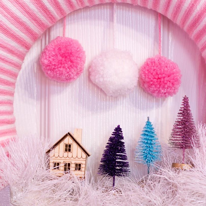 diy christmas scene wreath