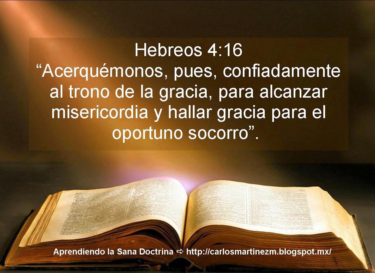 Aprendiendo La Sana Doctrina Hebreos 4 16