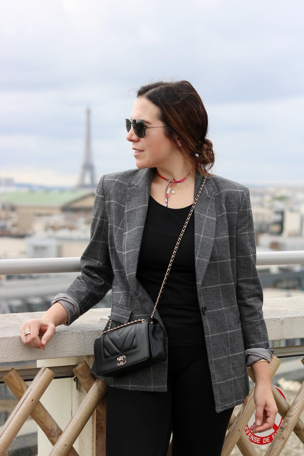 Le Chateau glen check plaid blazer outfit vancouver fashion blogger 5