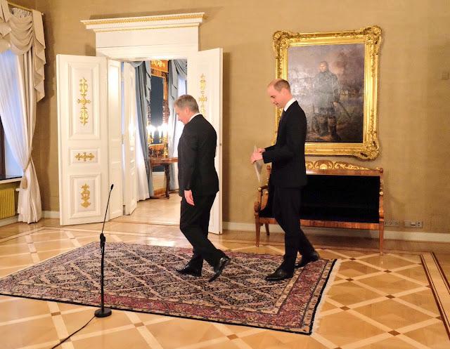 Oficjalna wizyta księcia Williama w Finlandii - Dzień I