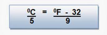 Conversión de las escalas Celsius y Fahrenheit