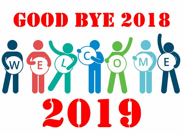 Bye Bye 2018 Welcome 2019 Wishes
