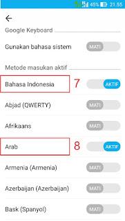 Cara Menulis Huruf Arab dan Harakat di Android